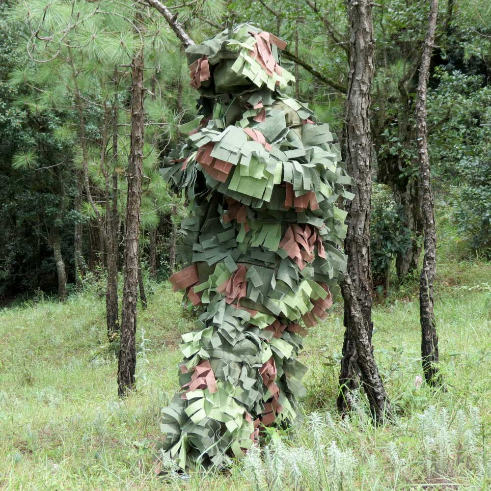 Camouflage Sniper Suit Or Ghillie Suit For Forest Terrain